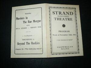 MURDERS IN THE RUE MORGUE [Bela Lugosi, Sidney Fox], orig 1932 movie ad flyer