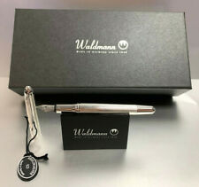 Waldmann Pocket Fountain Pen 925 Sterling Silver F/M/B Selectable New