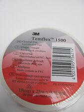 3M 1500 Temflex Isolierband weiß, 3 Rollen   19mm x 25m