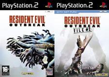 Resident Evil Outbreak 1 &  File  #2      PS2 PAL