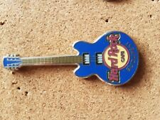 Hard Rock Cafe Pin BUDAPEST Core Guitar Blue 3 String