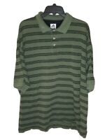 Adidas Men's Striped Short Sleeve Polo Shirt Size 2XL Green