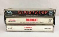 Lot of 3 Cassette Tapes ~ Supertramp, Warrant, Loverboy, 80's Glam Pop Rock