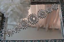 Gorgeous Diamante Bridal Applique Trim Beaded Motif Rhinestone Wedding Applique