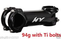 "Hylix Road/MTB bike Stem 31.8mm-1 1/8""-With 6 Ti bolts-94g only-Ultra Light"