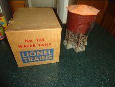 Lionel Postwar #138 Water Tower in Original Box