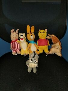 Japan Sears Velvet Corduroy Winnie Pooh Rabbit Piglet Eeyore Kanga Tigger t5