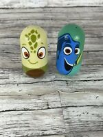 Disney Kelloggs Weeble Wobble Beanz Finding Nemo Lot Of 2  Squirt And Dory