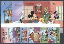 Walt Disney, Philanippon- Grenada - 2245-2252, Bl.275-277 ** MNH 1991
