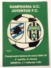 Cartolina Campionato Calcio 90-91 Sampdoria-Juventus