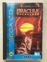 Dracula Unleashed (Sega CD, 1993) 100% Complete CIB w/ Registration Card, Tested