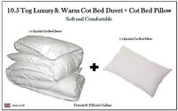 10.5 TOG COT BED DUVET QUILT + FREE PILLOW, NURSERY, BABY, TODDLER - QUALITY
