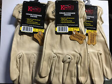3 Pair Lot of  Kinco 98-XXLFull Grain Cowhide Glove, XXL