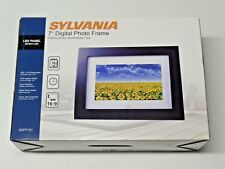 "Sylvania 7"" Digital Photo Frame New in Box SDPF751 LED Panel 16:9 Aspect Ratio"