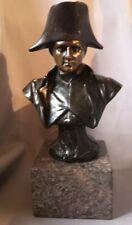 Antique Solid Bronze Bust of Napoleon on Granite Signed R Bernard 25 cm high