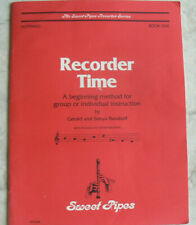 Recorder Time:Beginning method for group or individual,Burakoff,Sweet Pipes,Bk 1