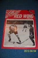 1966 MONTREAL CANADIANS vs DETROIT RED WINGS Program JEAN BELIVEAU 32 Pages