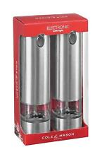 Cole & Mason Battersea Stainless Steel Electronic Salt & Pepper Mill Gift Set