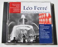 LEO FERRE . Chefs-D'Oeuvre De La Chanson Française  . CD CF008