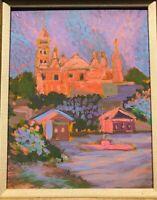 Vintage Gloucester Massachusetts City Hall Luminist Oil Painting Impressionism