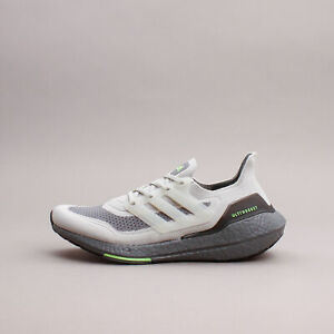 Adidas Running Ultraboost 21 Grey Neon workout gym New Men Shoes comfort S23875
