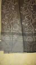 """Beautiful Powder 100% Pure Silk Grey Scarf Wrap Shawl 78"""" X 26"""""""