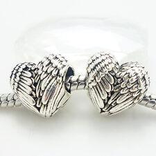 wholesale 10PCS Silver Retro Spacer European Charm BeadS Fit Necklace Bracelet
