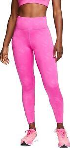 Nike Women's Air 7/8 Pink Running Tights CJ2149-601 Size M