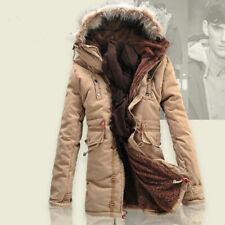 Men's Winter Slim wool Warm Jacket Cotton coat fleece Trench Parka outwear S