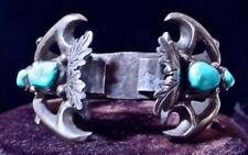 New listing Navajo Hyson Craig Watch Cuff Sterling/Turquoise Bracelet