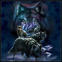 Wolf Pack - Chart Counted Cross Stitch Pattern Needlework Xstitch craft DIY DMC