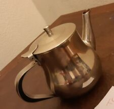 Vintage Stainless Steel Tea Coffee Pot 4.5 Inches High T6