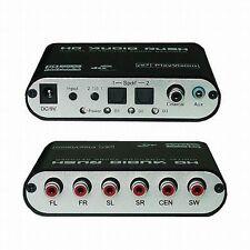 5.1 AC3 DTS HD Audio Decoder Digital Sound Decoder Optical SPDIF Coaxial to 6RCA