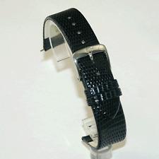 Di Modell Lagarto flanco Azul Correa De Reloj: real Lagarto: 12,14,16,18 o 20mm (P9)