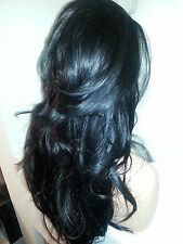 Beautiful Lace Front Wig Black 1B Heat Safe can be curled/straightened