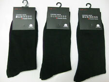 8 Pairs Pure cotton No Polyester Black Men's Business Dress Socks 6-11, 11-14