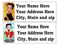 30 BETTY BOOP RETURN ADDRESS LABELS