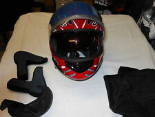 DELUXE MODULAR CHOKO HELMET RED Linear Flip Down Tinted Lens SMALL $ REDUCED $