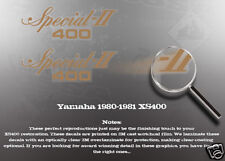 YAMAHA 1980-1981 XS400 SIDE COVER DECALS GRAPHICS