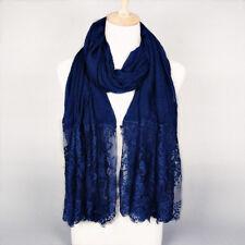 Women Cotton Winter Fall Lace Scarves Muslim Girls Hijab Shawls Wrap Head Scarf
