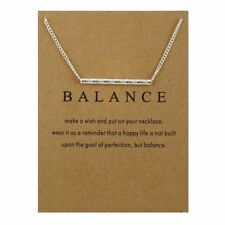 YS130 Sparkling Balance Pendant White Gold Dipped Necklace