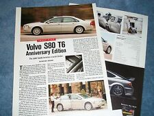 """2002 Volvo S80 AE T6 Anniversary Edition Info Article """"Stolid Swede..."""""""