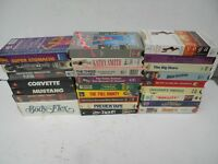 VHS VCR Tapes Lot Of 26 Movies Addams Family The Doors Bullitt Three Stooges