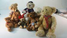 9 Teddybären Bären Konvolut Sunkid Russ diverse Kuschelbären und ein Hase Z-651