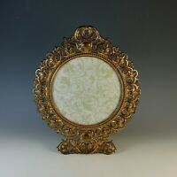 Vintage Gilded Cast Iron Photo Frame with Easel