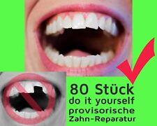 80 St. vorläufige ZAHN FÜLLUNG prov. Zahnersatz Reparatur teeth Granulat NEW