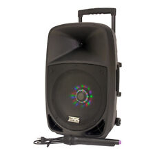 "IBIZA PARTY-12LED PORTABLE SOUND SYSTEM 12"" 700W WIRELESS MIC BLUETOOTH USD SD"