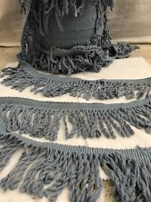 Pewter Blue Twisty Fringe Trim BY THE YARD