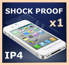 Scratch Resistant Shock Proof Screen Protector Cover Film for Apple iPhone 4S 4