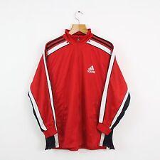 De Colección Adidas 90s Rojo Chándal Chaqueta Superior | Original | Mediano M Retro Sport